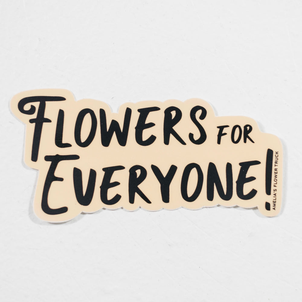 Flowers For Everyone Sticker