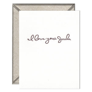 INK MEETS PAPER - I Love Your Smile - greeting card
