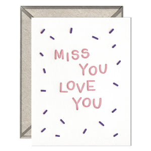 INK MEETS PAPER - Miss You Love You - greeting card