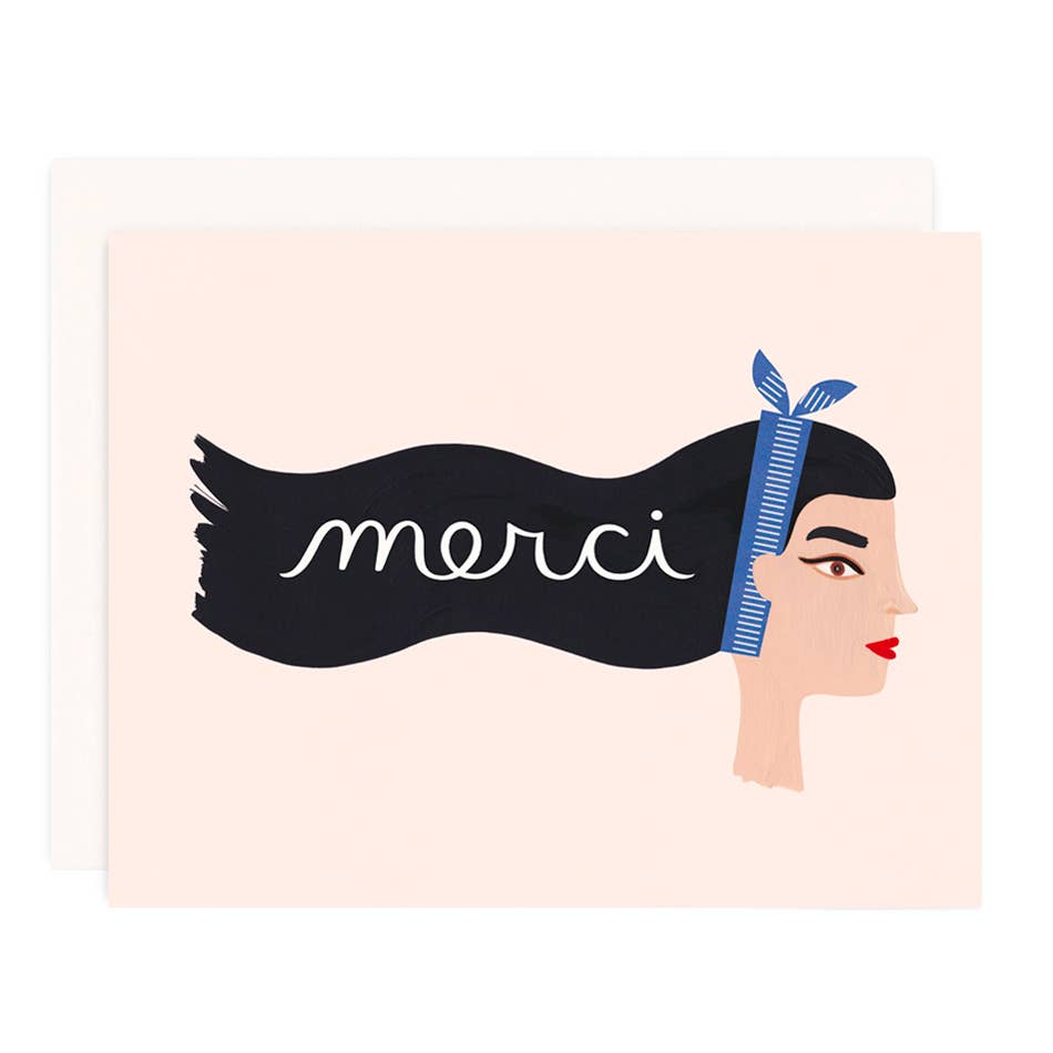 Girl w/ Knife - Merci Greeting Card