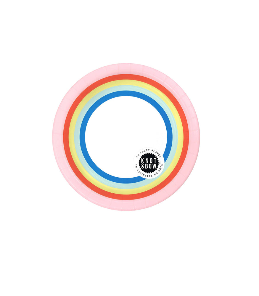 Knot & Bow - SALE - Double Rainbow Small Party Plate
