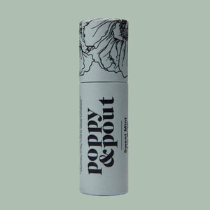 Poppy & Pout - Sweet Mint Lip Balm, Flower Powered Lip Care