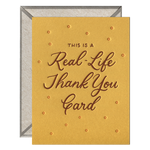 INK MEETS PAPER - Real-Life Thank You Card - greeting card