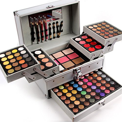 (Pure Vie Professional 132 Colors Eyeshadow Concealer Palette Makeup Contouring Kit