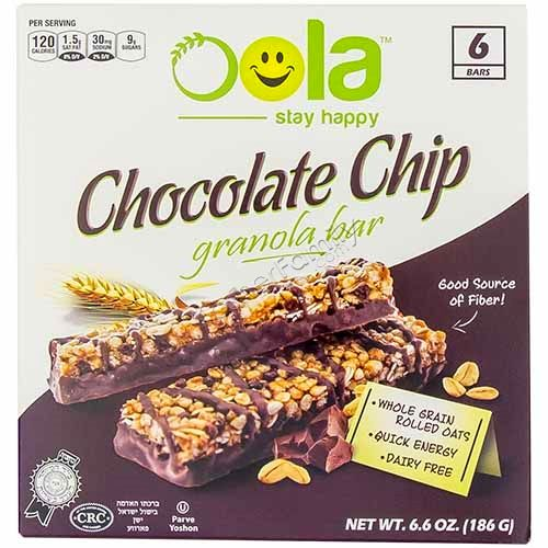 Oola Chocolate Chip Granola Bars 6pk
