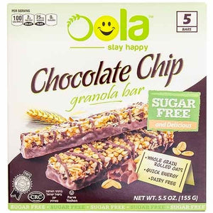 Oola Sugar Free Chocolate Chip Granola Bars 6pk