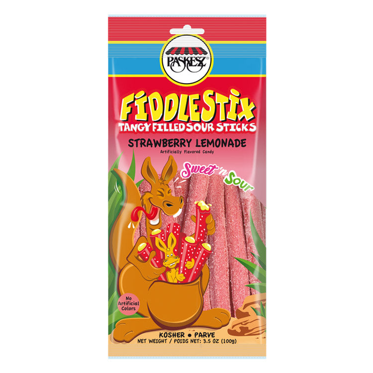 Paskesz Fiddlestix Strawberry Lemonade 100g