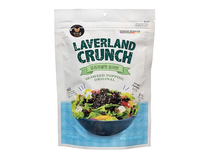 Taste Of Asia Laverland Crunch Seaweed Topping Original 40Gr