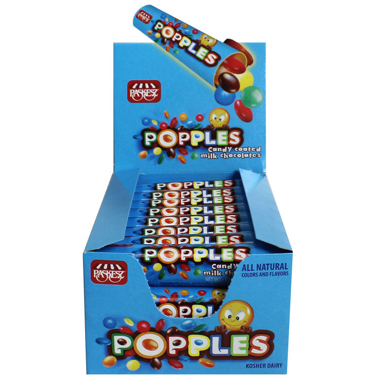 Paskesz Popples Milk Chocolate Tube 20Gr