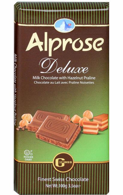 Alprose Milk Deluxe Chocolate  100G