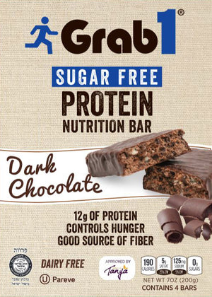 Grab1 Dark Chocolate Sugar Free 5pk