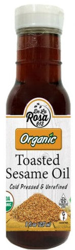 Dela Rosa Toasted Sesame Oil Unrefined Organic 237ml