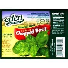 Eden Chopped Basil 70Gr