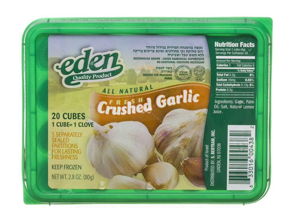 Eden Crushed Garlic 80Gr