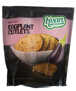 Eden Eggplant Cutlets Breaded Round 453Gr