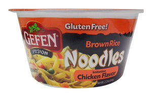 Gefen Brown Rice Noodle Bowl Chicken Flavoured No Msg 64G