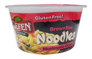 Gefen Brown Rice Noodle Bowl Mushroom & Onion Flavoured No Msg 64G
