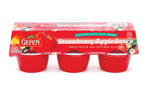Gefen Strawberry & Apple Sauce 6-Pack x 113G