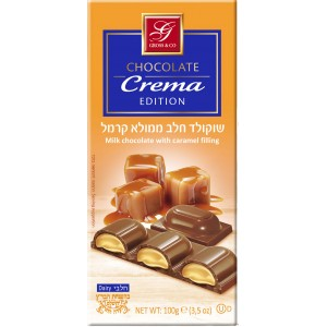 Gross Dark Chocolate With Caramel Filling 100Gr