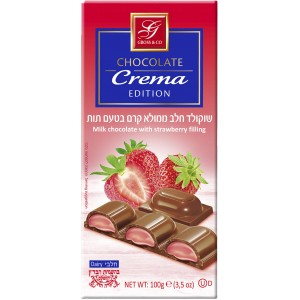 Gross Dark Chocolate With Strawberry Filling 100Gr