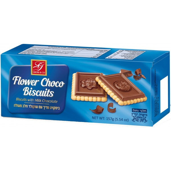 Gross Flower Choco Biscuits Milk 115Gr