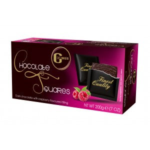 Gross Chocolate Squares With Raspberry Cream 200G
