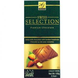 Gross Swiss Selection Milk Chocolate With Broken Hazelnuts 100Gr