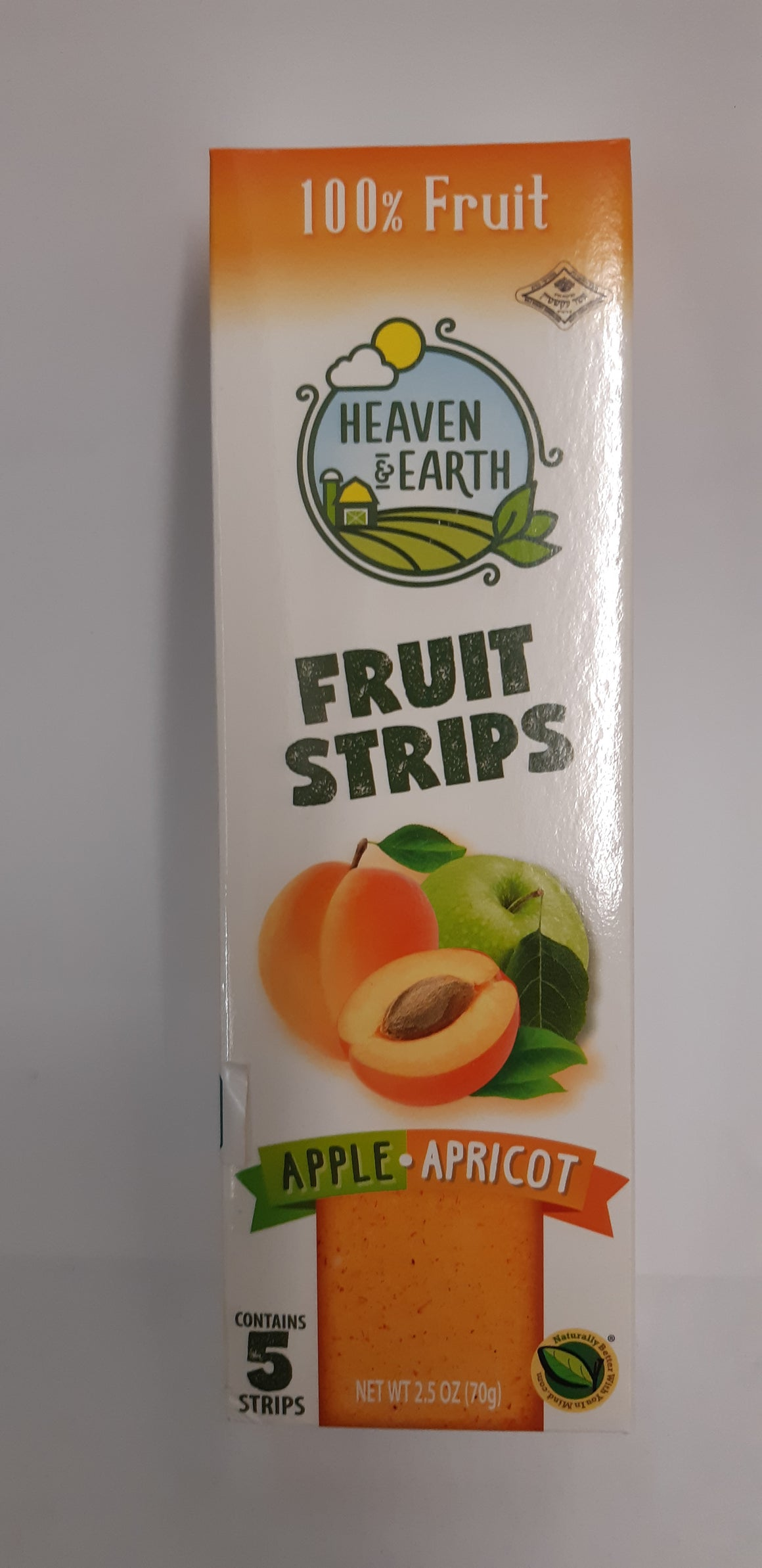Heaven & Earth Fruit Strips Apple & Apricot 5 Pack 70g
