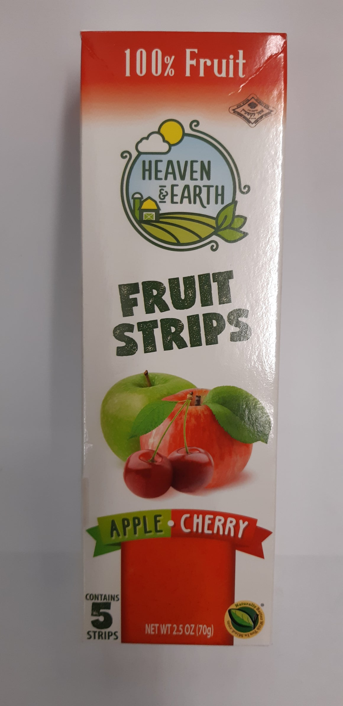 Heaven & Earth Fruit Strips Apple & Cherry 5 Pack 70g