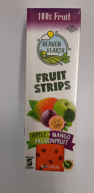 Heaven & Earth Fruit Strips Apple Mango & Passionfruit 5 Pack 70g