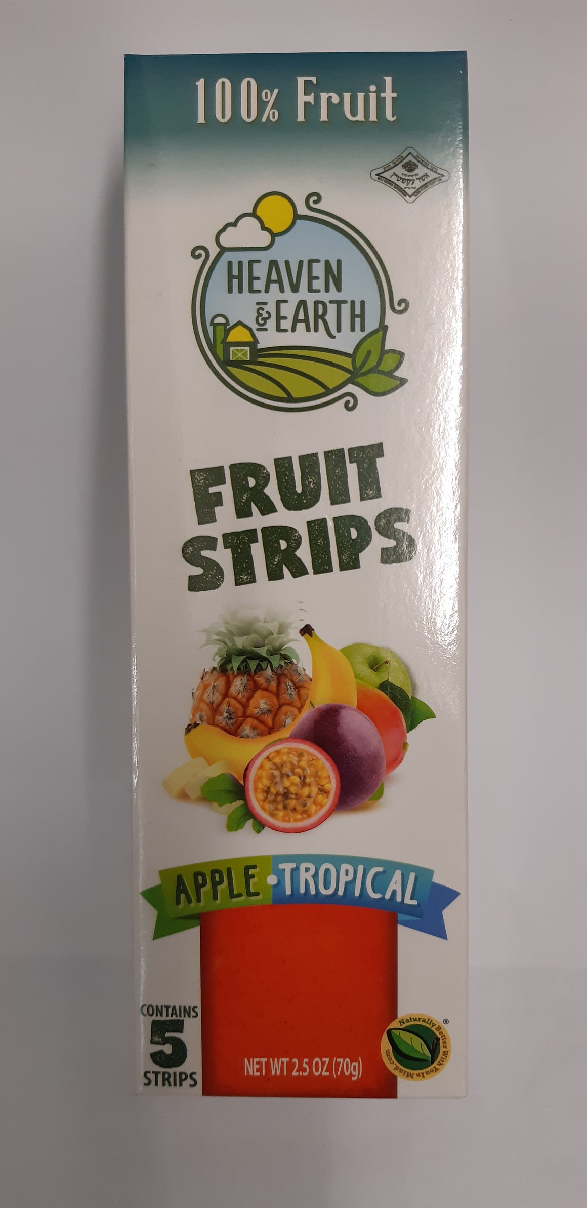 Heaven & Earth Fruit Strips Apple & Tropical 5 Pack 70g