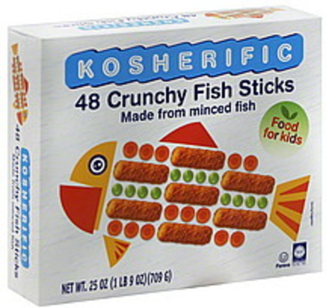 Kosherific 48 Crunchy Fish Sticks 709Gr