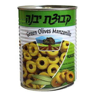 Kvuzat Yavne Green Olives Sliced 540G