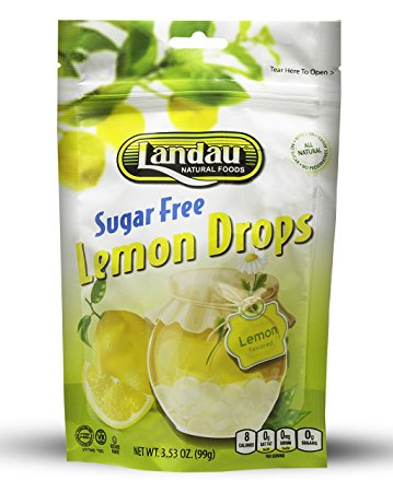 Landau Lemon Drops Sugar Free 99g