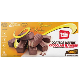 Man Wafer Gaufrettes Chocolate Coated 500Gr