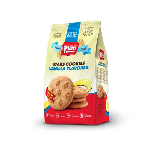 Man Cookie Bag Star Vanilla 300G