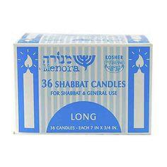 Menora 36 Long Shabbat Candles