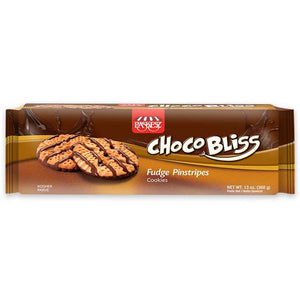 Paskesz Choco Bliss Fudge Pinstripe Cookies 370Gr