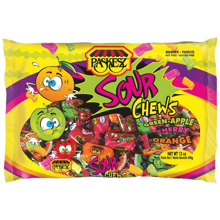 Paskesz Lollies Sour Chews 453Gr