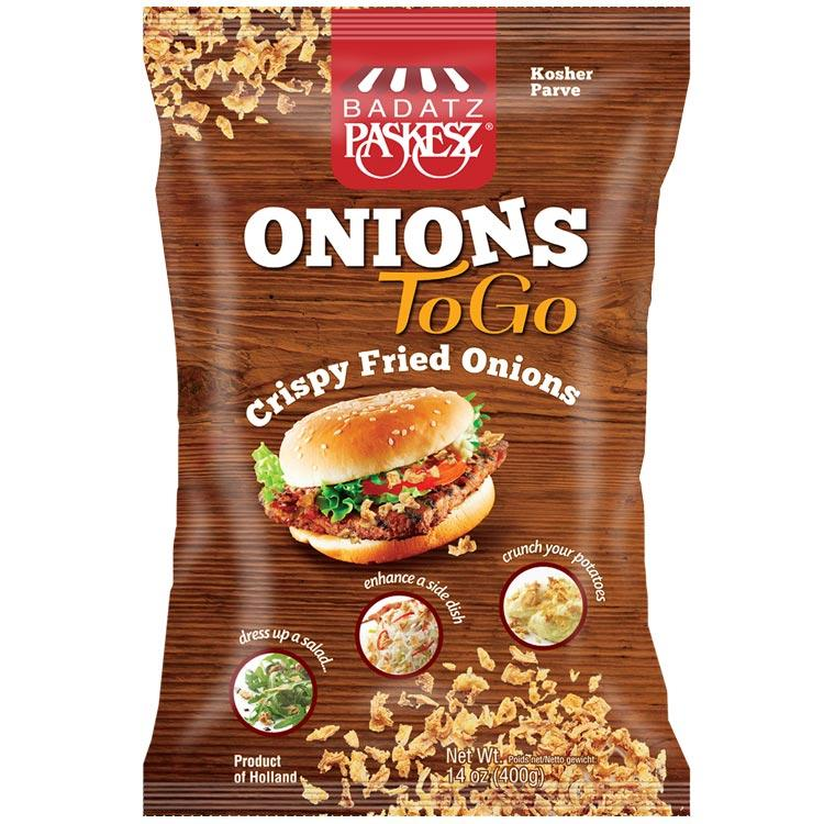 Paskesz Onions To Go Fried Bag 400Gr