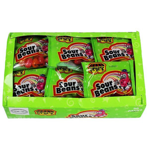 Paskesz Sour Beans Display Box 30 x 25Gr