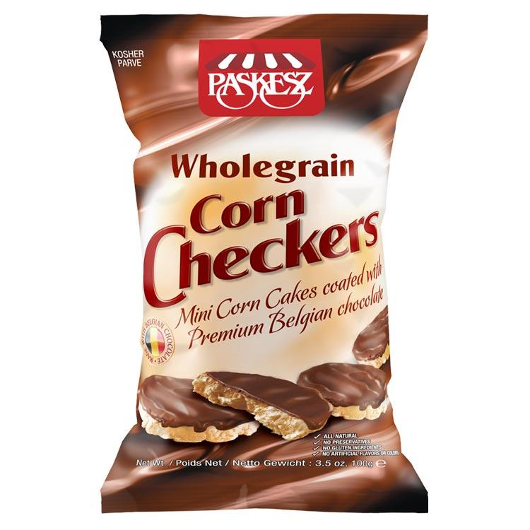 Paskesz Wholegrain Corn Checkers 103Gr