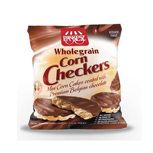 Paskesz Wholegrain Corn Checkers Chocolate Coated 41Gr