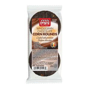 Paskesz Wholegrain Corn Rounds Chocolate Coated 103Gr
