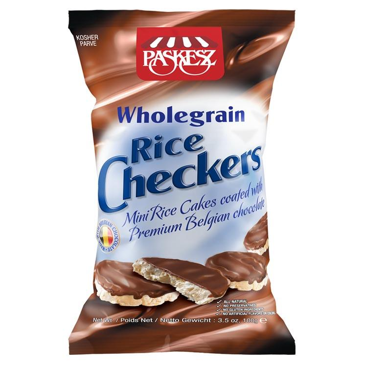 Paskesz Wholegrain Rice Checkers Bag 100Gr