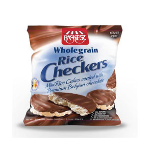 Paskesz Wholegrain Rice Checkers Chocolate Coated 41Gr