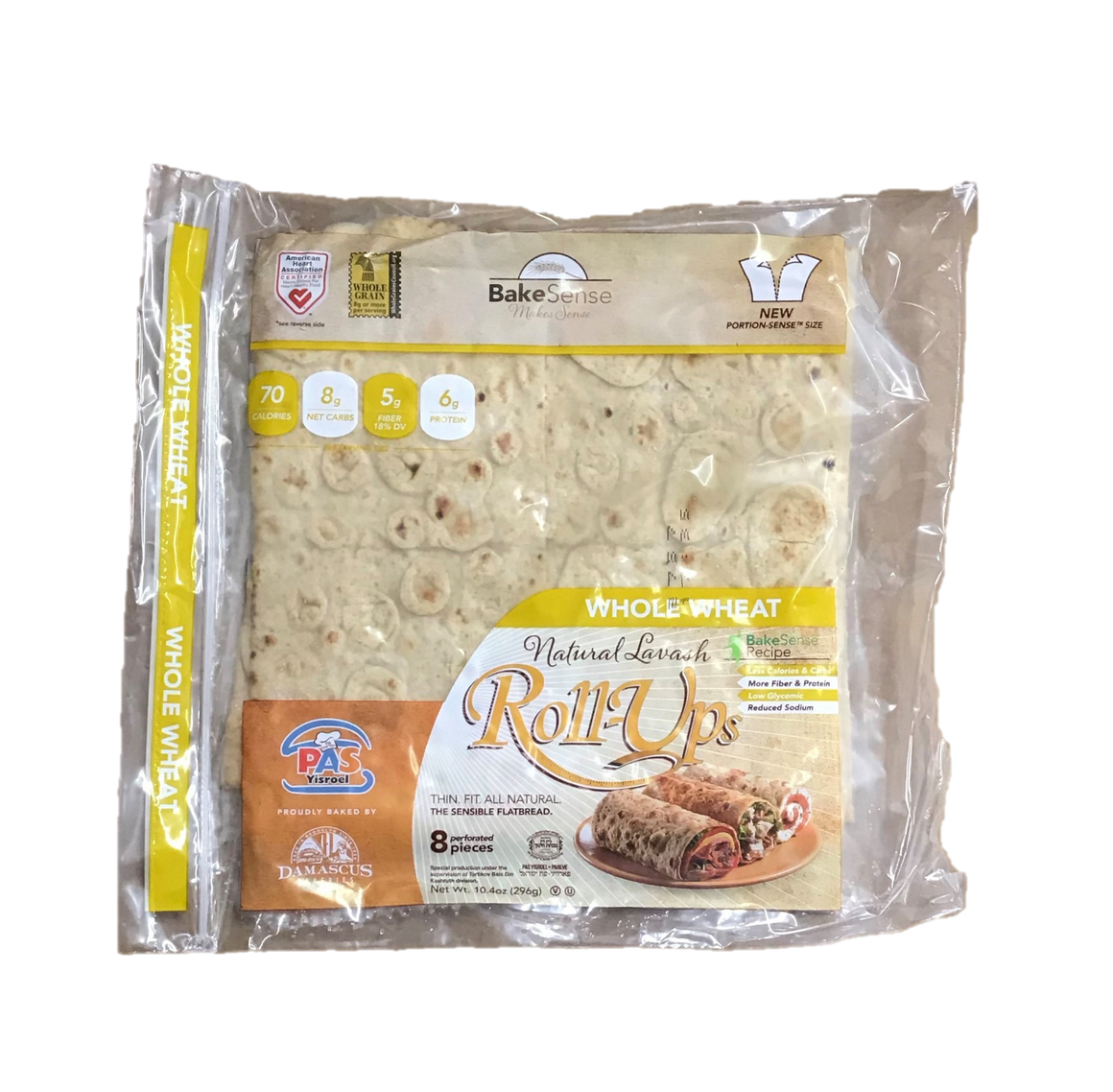 Roll Ups Whole Wheat Wraps 8Pk 296Gr