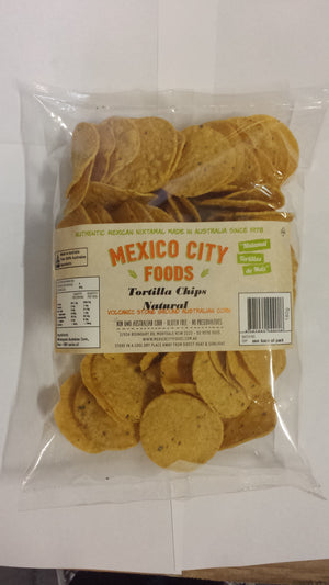 Mexico City Foods Round Tortilla Corn Chips Natural 180g
