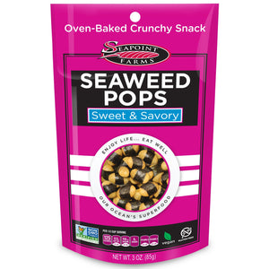 Sea Point Farms Seaweed Pops Sweet & Savoury 85g