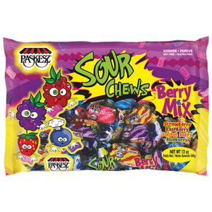 Paskesz Lollies Sour Chews Berry Mix 340Gr